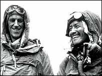 Edmund Hillary y el sherpa Tenzing Norgay