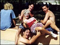 Group of young people on holiday