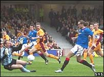 Dado Prso opened the scoring at Fir Park
