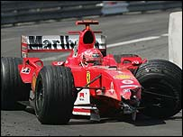 Michael Schumacher was shunted into the tunnel wall