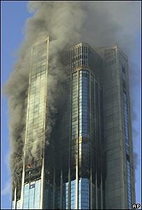 Incendio en la Torre Este del complejo Parque Central en Caracas