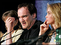 Quentin Tarantino and Emanuelle Beart