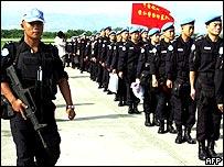 Chinese police arrive in Haiti