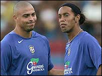 Brazil superstars Ronaldo (left) and Ronaldinho