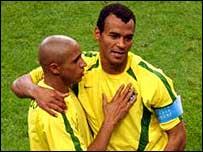 Are Roberto Carlos (left) and Cafu in decline?