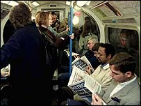 Metro readers on the Underground