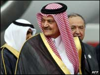 Saudi foreign minister Prince Saud al-Faisal at Saturday's Arab League summit