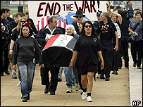 Anti-war protesters