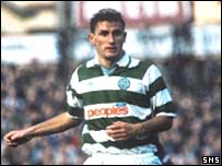 Tony Mowbray in action for Celtic