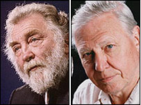 David Bellamy and Sir David Attenborough