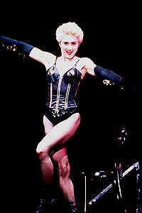 Madonna on stage in 1987