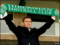 Tony Mowbray at Easter Road