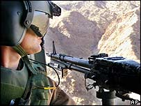US gunner aboard Chinook helicopter over Khost