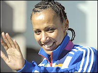 Double gold medallist Kelly Holmes