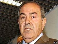 Iraqi interim PM Iyad Allawi