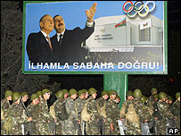 Силы безопасности в Баку в дни после президентских выборов 2003 года