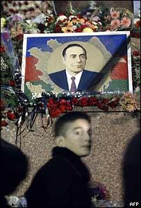 Баку в день похорон Гейдара Алиева