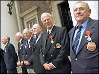 Veterans at Admiralty House, London