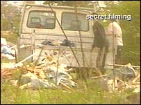 Fly-tippers filmed undercover