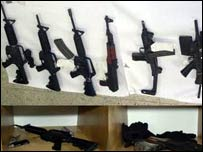 Guns seized in Tel Aviv