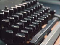 Typewriter keys, BBC