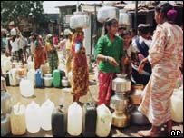 Water queue during 2000 Bombay drought