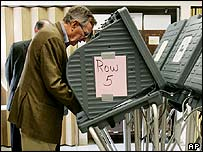 Former President George Bush votes in Texas