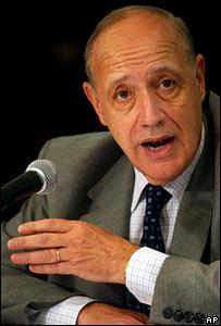Roberto Lavagna, ministro de economía de Argentina.