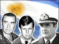 Ex militares argentinos acusados.