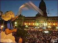 Manifestación en contra de la inseguridad.