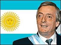Néstor Kirchner, presidente de Argentina.
