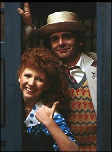 High-pitched dancer Bonnie Langford travelled with both Colin Baker and Sylvester McCoy (pictured).