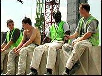 Workers on a break