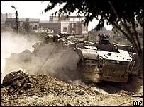 Israeli tank in Rafah