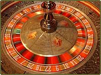 A roulette wheel at Gala Casino in Piccadilly, central London