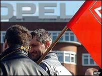 Protestors in Bochum in Germany