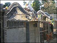 Restoration work in China