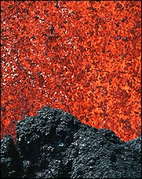 Erupting lava   USGS
