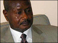 Uganda's President Yoweri Museveni 