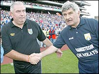 Mick O'Dwyer (right) with Armagh boss Joe Kernan
