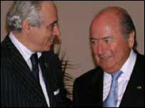 Saad Kettani with Fifa president Sepp Blatter