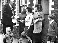 The local MP with Grangetown housewives in the 1950s
