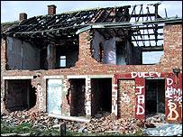 Derelict house in Grangetown