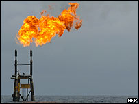 An oil flare from an oil well