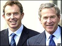 Tony Blair and George W Bush