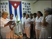 Wives of jailed Cuban dissidents at a meeting in Havana in September