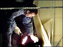 Forensic scientist at crime scene