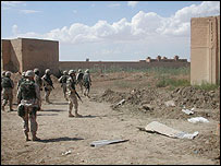 US troops in Abu Ghraib, 22 April 2003 (Photo: BBC/Martin Asser)