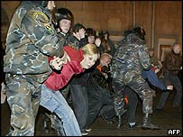 Police clash with demonstrators in Minsk