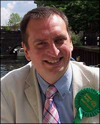 Green Party mayoral candidate Darren Johnson